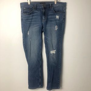 Banana Republic Distressed Girlfriend Jeans